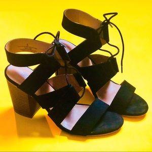 Sling black Chunky Heel sandals
